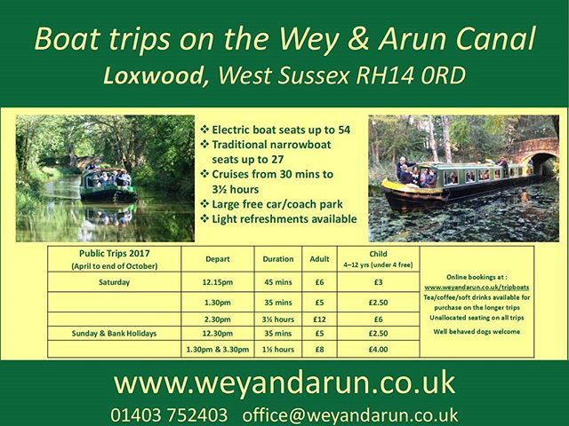Our weekend public boat trips operate from Loxwood, West Sussex from the beginning of April until the end of October. More details at www.weyandarun.co.uk #boatttrip #boattrips  #boatcruise #boatride #boat #narrowboat #westsussex #sussex #loxwood #dayout #weyandaruncanal #weyandarun #weyandaruncanal #canal #canals