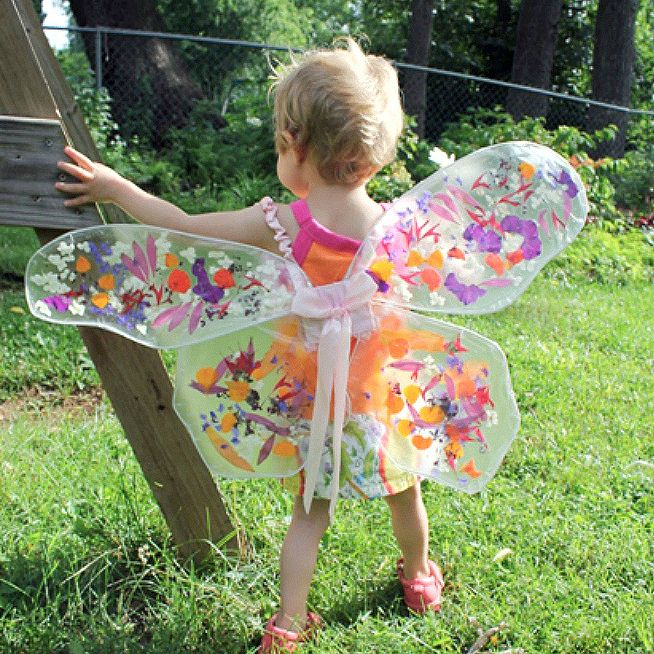 Childrens fairy wings - Magical Upcycled Fairy Wings