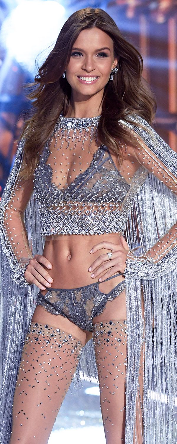 Runway Secret: Josephine Skriver's Swarovski look was created with over 450,000 beads and stones. | Own The Look: Victoria's Secret Fashion Show
