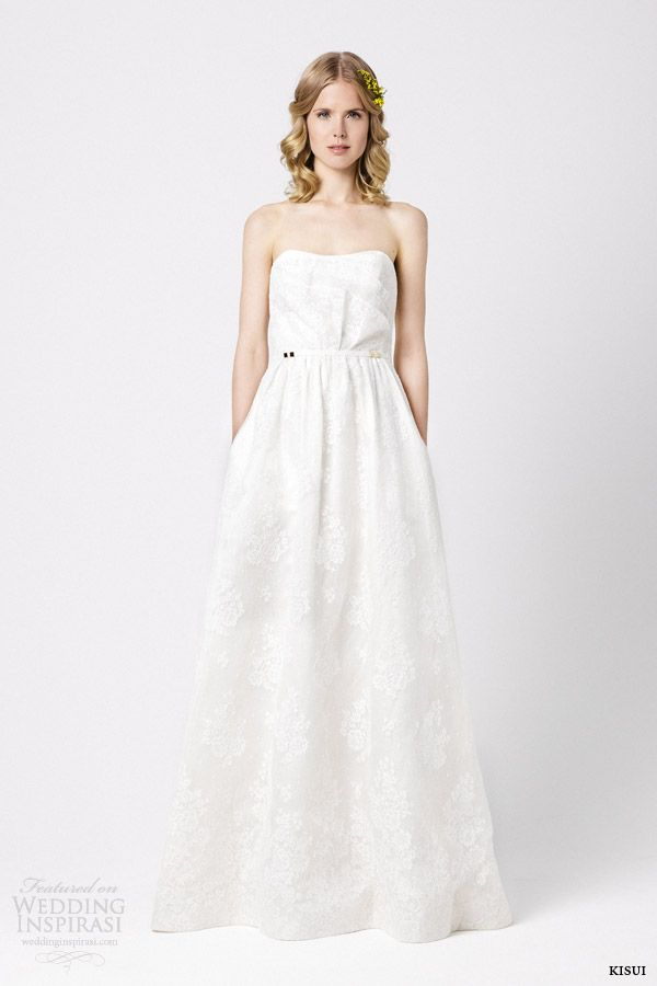 kisui bridal 2015 coeur de marie strapless wedding dress