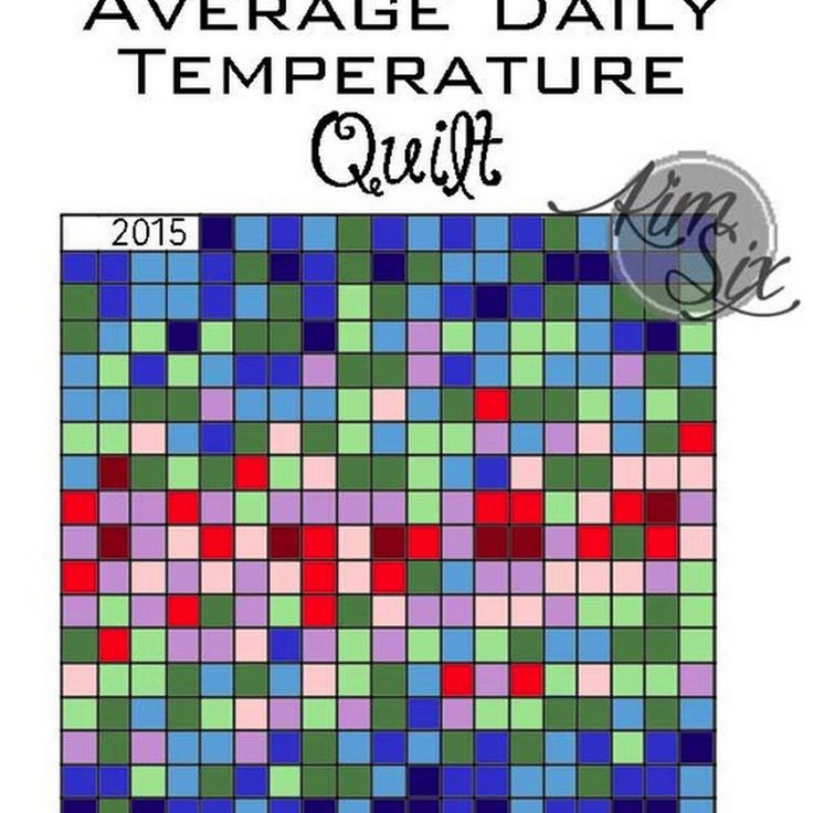 Average Daily Temperature Quilt: A Year Long Project  Every block represents a day and the color is determined by the average daily temperature.  An easy project since you only have to add one block a day.. or save them and add seven blocks a week.  So cool since everyone's will look a little different.
