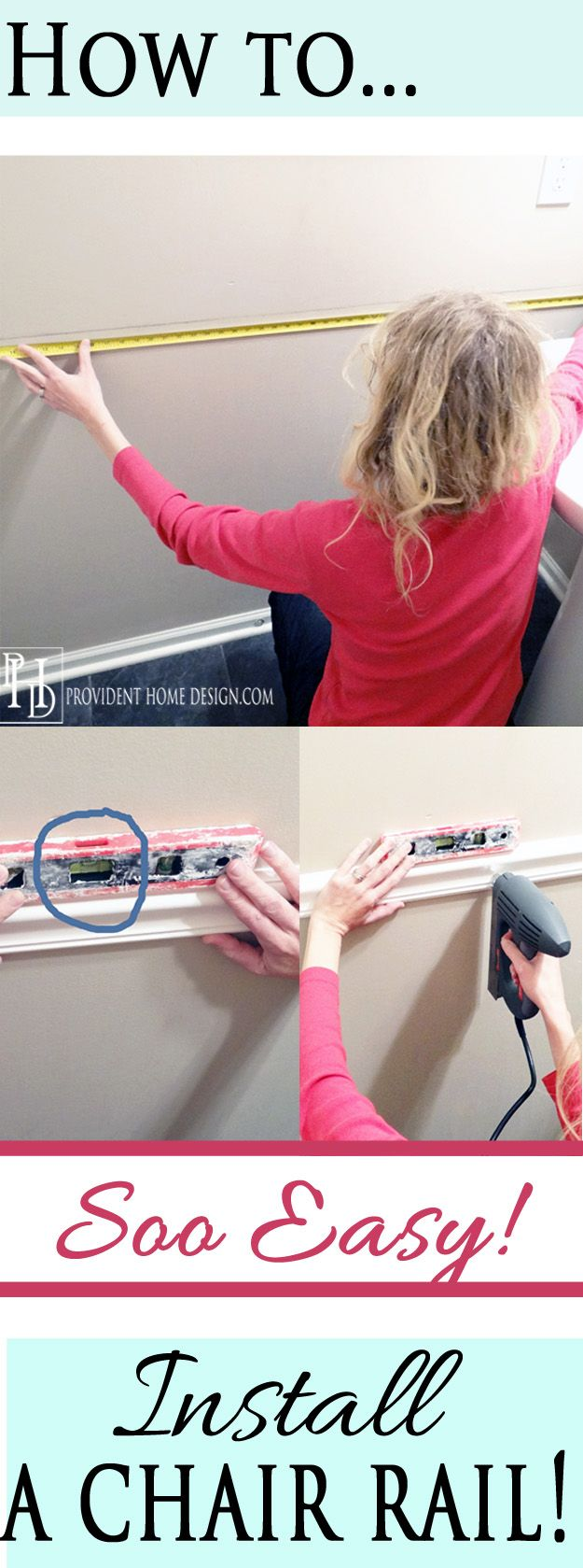 Wonderful paint above chair rail height - Easy Steps To Installing A Chair Rail