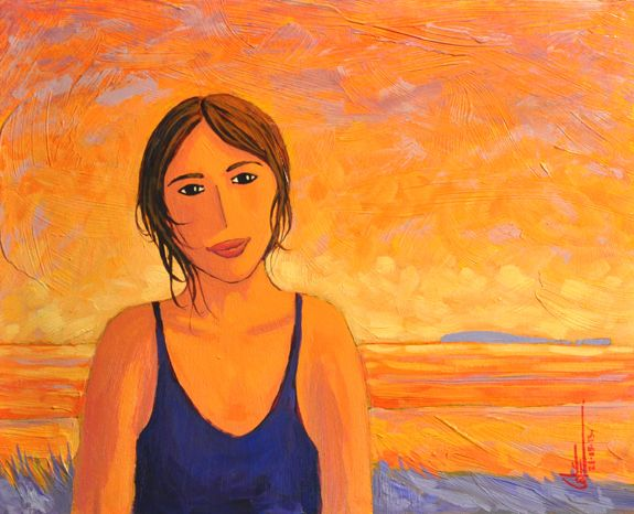Belle de l'anse acrylique sur toile   20 x 24po.  2013