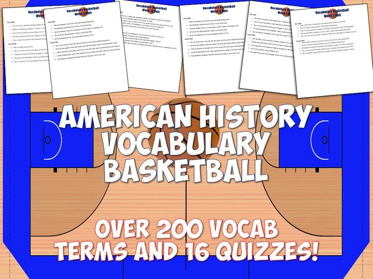 This Vocabulary Basketball game can last you an entire semester and is an incredibly fun way to engage students with vocabulary for US History! Includes 14 sets of American History vocabulary from the the Civil War through the Civil Rights Movement and end of the Cold War. Plus quizzes, answer sheets, and keys for everything!