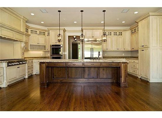 Cabinet Island Wood Combo White Wash Dark Stained Walnut Hello Kitchen For The Home Pinterest Dark Stains Woods And Kitchens