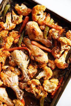Sheet Pan Buffalo Chicken and Veggies | Lexi's Clean Kitchen