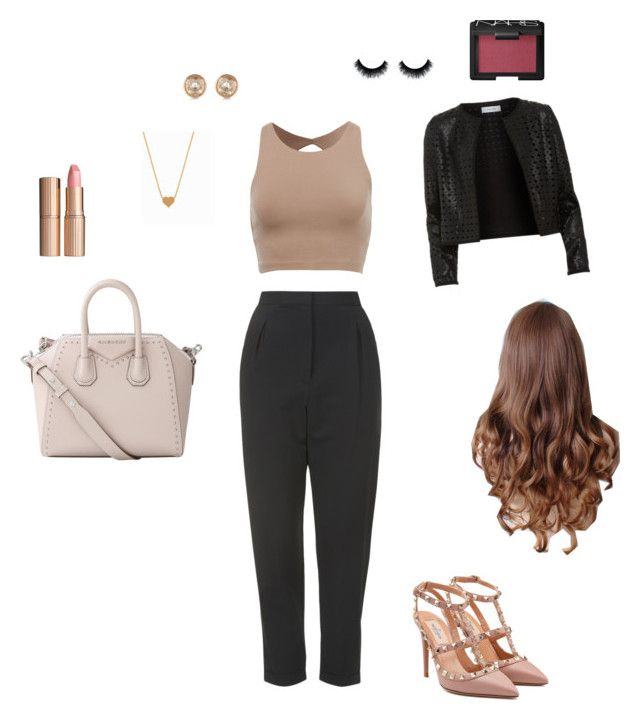 """""""THE NEW YORKER STYLE"""" by adrianaadd on Polyvore featuring moda, Topshop, Maglie I Blues, Valentino, Givenchy, Minnie Grace, Michael Kors, Charlotte Tilbury e NARS Cosmetics"""