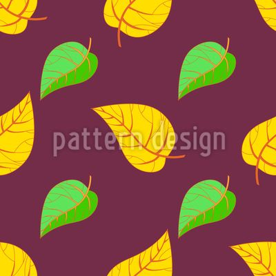 Symmetric Fall Seamless Pattern Seamless Pattern by Elena Alimpieva at patterndesigns.com