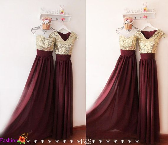 Prom Dress,Sexy Burgundy Evening Dress,Bridesmaid Dress,Sequin Modest Evening Dress,Vintage Prom Dress,Cheap Custom Prom Dresses,Prom Dress