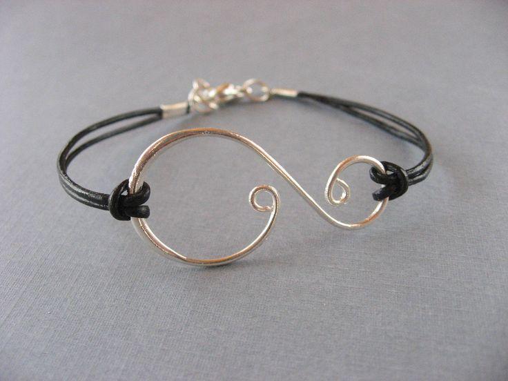 Silver Swirl Bracelet Anniversary gifts sisters por DevinMichaels