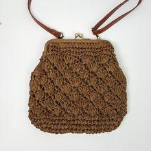 24x22 СМ петли трава тканые сумки носить сумки мешок соломы сельских повседневная женская сумка A2380(China (Mainland))
