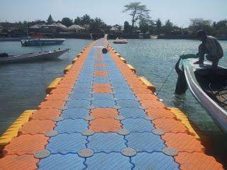 Jembatan Apung Mempercantik Pulau Gili   Media Bawean