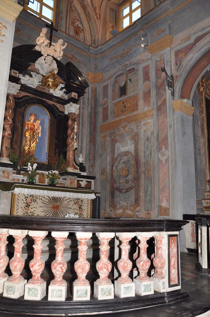 The chapel of the Madonna del Carmine in San Bernardino's church (XV-XVII c.) in Saluzzo - Cuneo - Piedmont - Italy after paintings conservation (2009-2011)