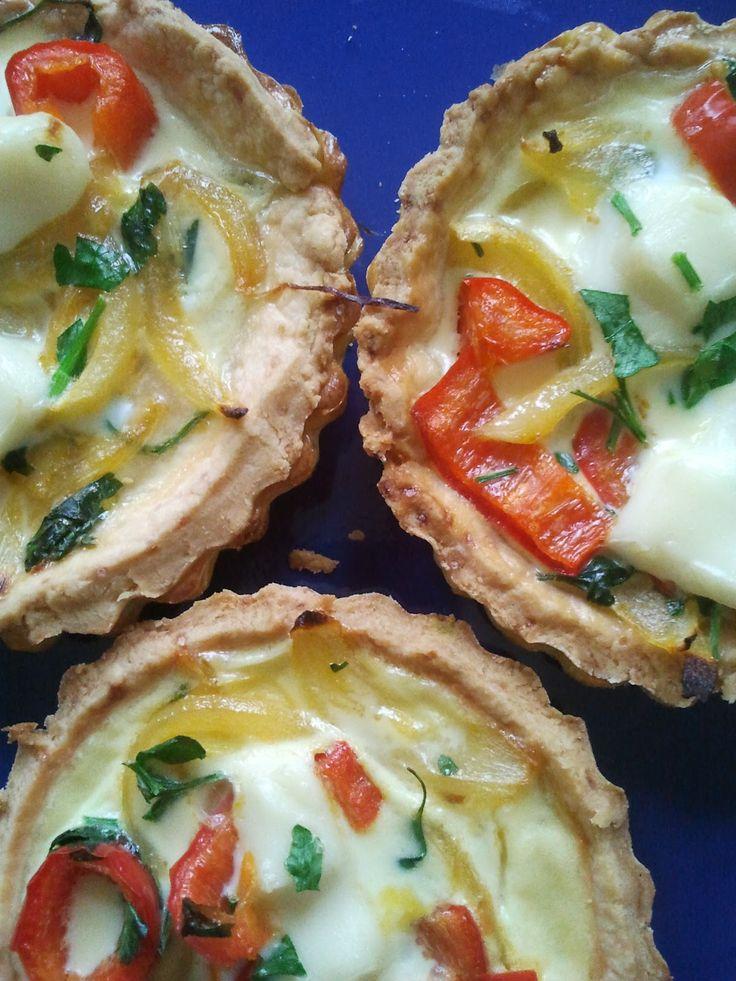 Zöldséges-sajtos quiche recept