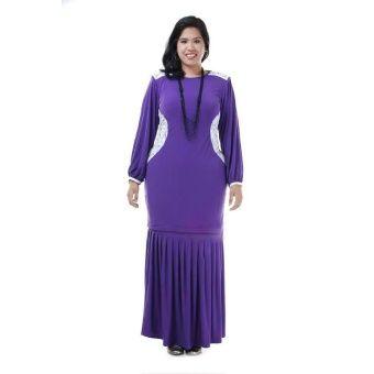 Khaleenah Kurung Modern Bridal Lace Plus Size  Classic Purple Plus Size Kurung Modern Bridal Lace Khaleenah Code : KMBLK SIZE A : Free Size 2XL to 4XL SIZE B : Free Size 5XL to 8XL Made from High Quality Lycra + Bridal Lace Simple yet gorgeous All items are limited edition One pc per colour per size! Grab it fa... #bajukurung #bajukurungmoden