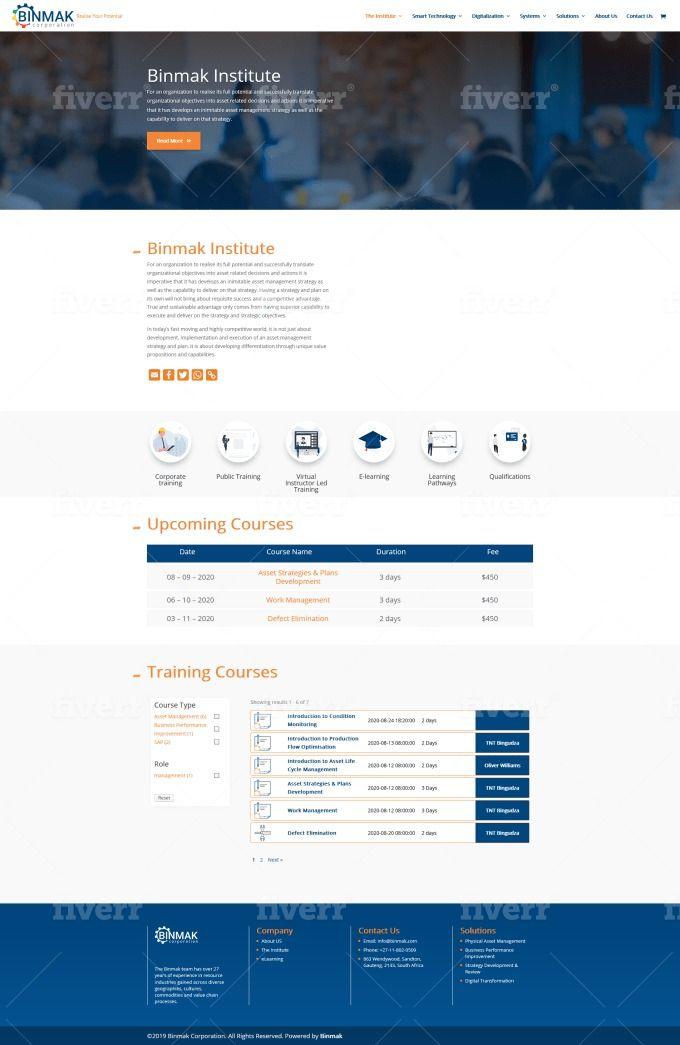 Responsive Wordpress Web Page With Divi Theme In 2020 Wordpress Design Theme Installation Wordpress Web