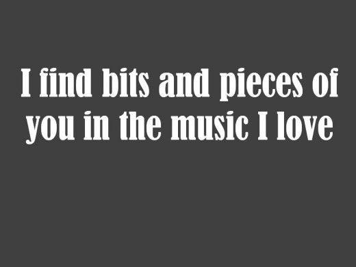 Love quote for music lovers