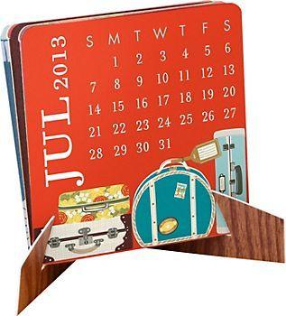 2013 Paper Source Mini Accordion Calendar