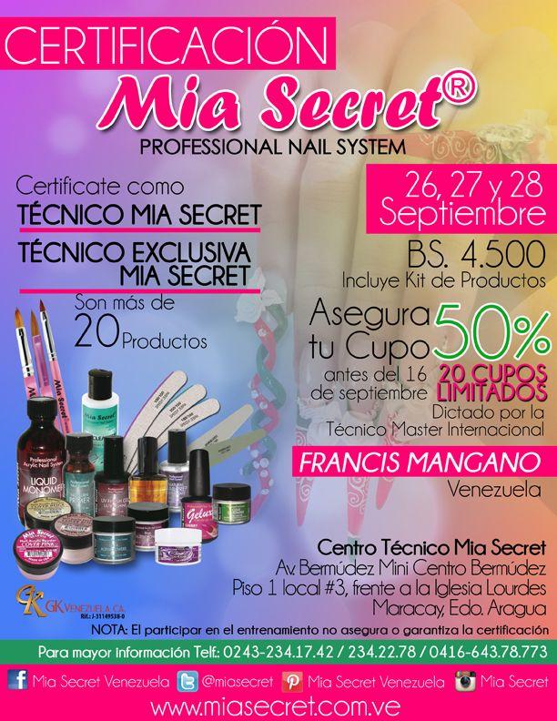 Certificate como  TECNICO MIA SECRET o TECNICO EXCLUSIVA MIA SECRET