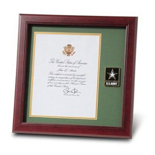 Go Army Medallion,Presidential Memorial Certificate Frame Hand Made By Veterans