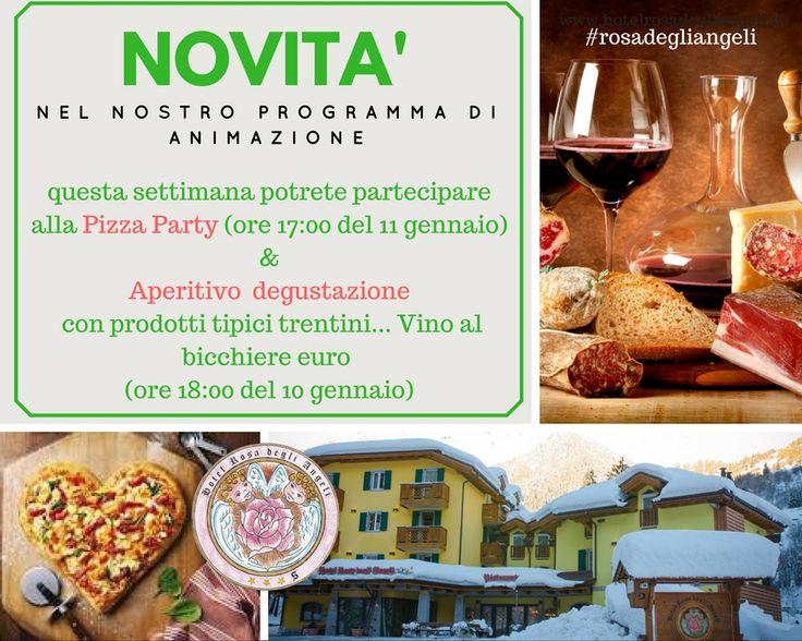 Nel programma di animazione della struttura questa settimana troverete 2 novità assolutamente uniche!!! #rosadegliangeli #novità #degustazioni #pizzaparty