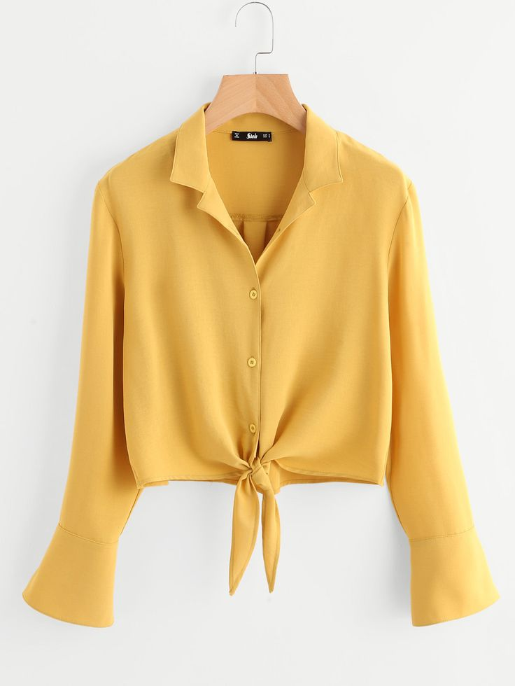 Knot Front Fold Pleat Back Blouse http://shareasale.com/r.cfm?b=775977&u=1425877&m=32222&urllink=http%3A%2F%2Fwww%2Eromwe%2Ecom%2FKnot%2DFront%2DFold%2DPleat%2DBack%2DBlouse%2Dp%2D248291%2Dcat%2D670%2Ehtml&afftrack=