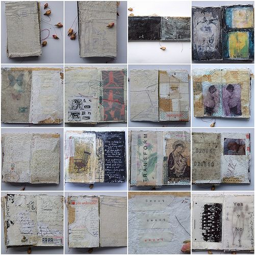 I want to do a book like this, where I pass it back and forth between my fellow artist friends and I.