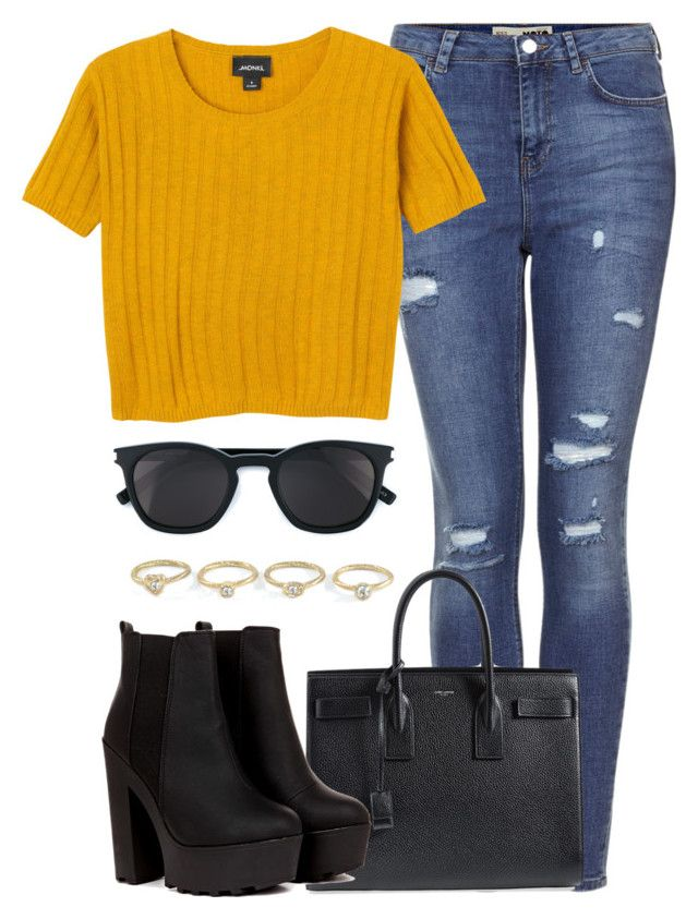 """""""Style #6"""" by dizzyblonde22 ❤ liked on Polyvore featuring Topshop, Monki and Yves Saint Laurent"""