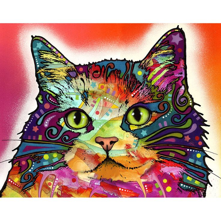 This Ragamuffin cat graphic was created by artist Dean Russo and made into a wall decal sticker by My Wonderful Walls. Animal pop art available in multiple sizes.