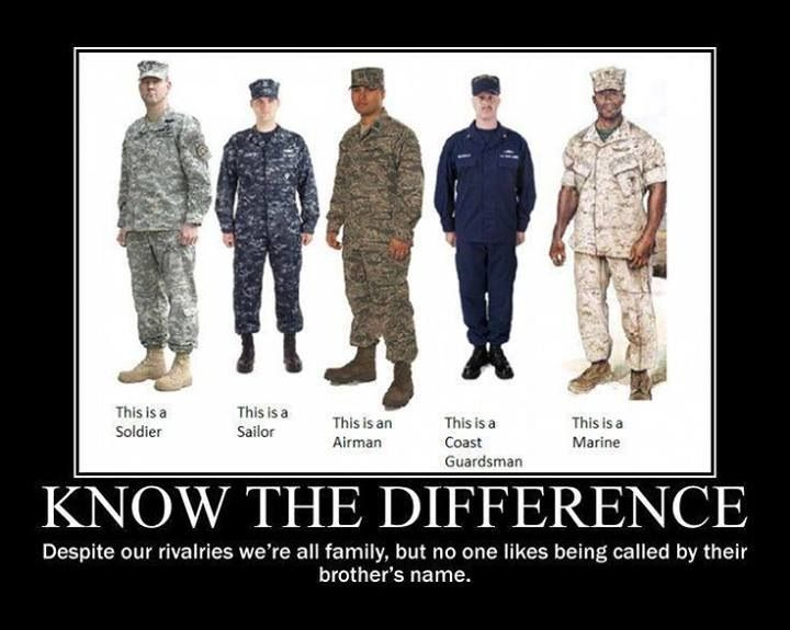 Military - when you see them, thank them for their service