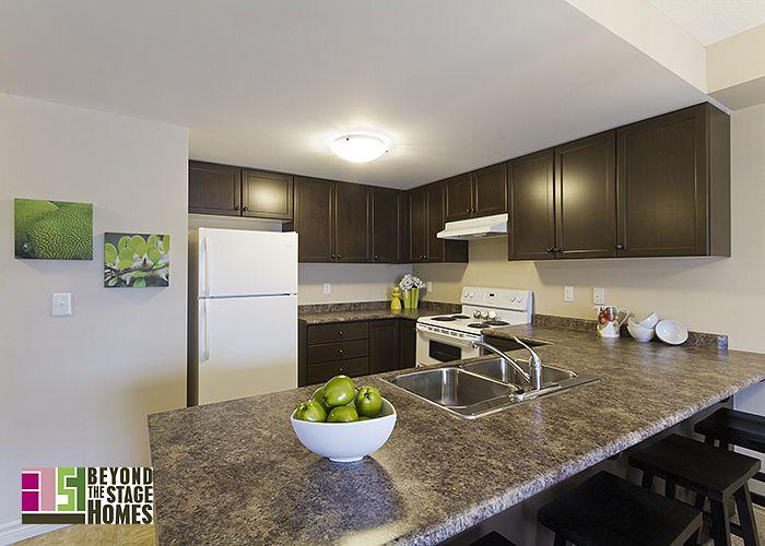 Staged Condo Kitchen #BTSH #Staging #Kitchen