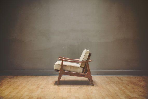 Moderne du milieu du siècle, Accent chaise, meubles, salon, chaise, danois, moderne, fauteuil, bois, Retro, salon, maison décoration, Décor, cerise
