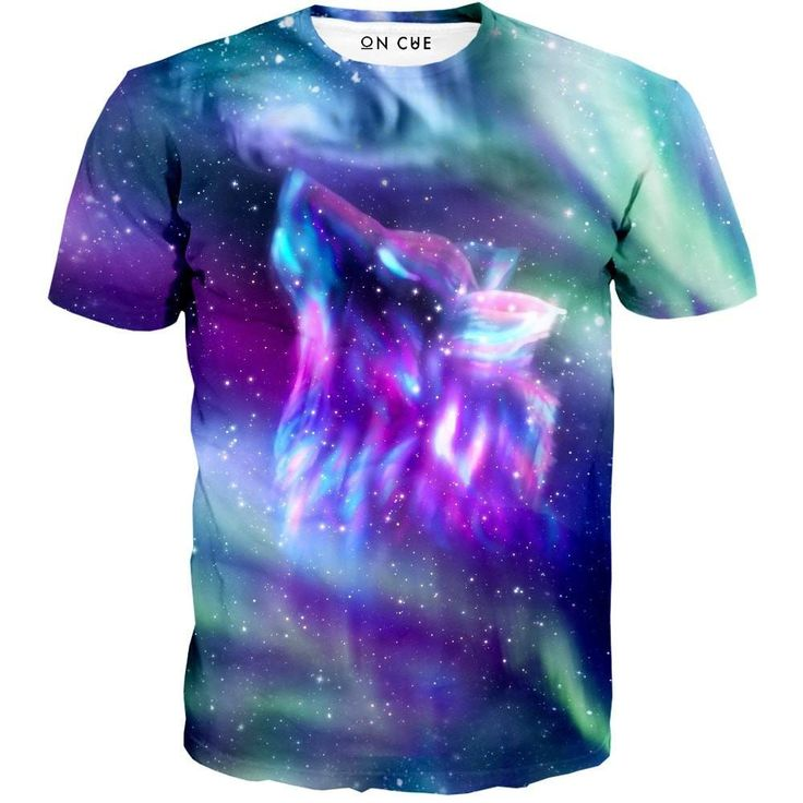 Our Wolf Aurora t-shirt is a must have for any wolf lover. This rave t-shirt depicts a wolf made out of star dust looking at the space above him. In this realm this wolf rules the universe. He is wise and powerful. Now you can become the powerful and wise leader in our wolf t-shirt. #trippyclothing #trippy #psychedelic