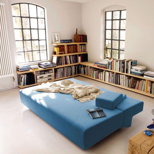 Sofá cama / moderno / de cuero / de tela COSMA by Thomas Müller & Jörg Wulff COR