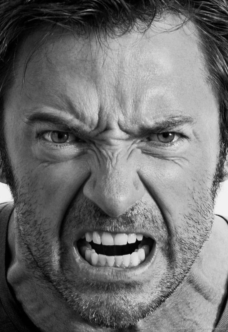 Angry Hugh Jackman for Amazon Kindle DX