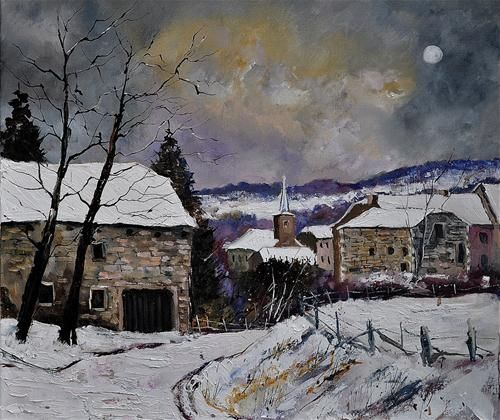 """Snow in Gendron"" by pol ledent"