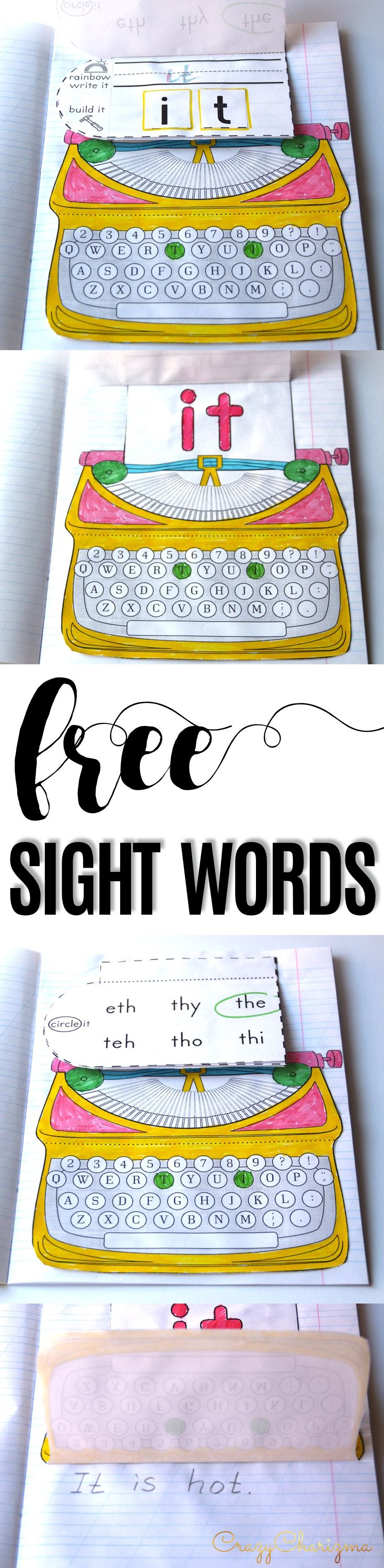 Are you looking for some fun ideas and activities for teaching sight words? The FREE packet has 11 activities and games for 3 sight words: the, and, it. These printables are great for literacy centers and independent practice in the classroom and at home. Great for advanced pre-k, kindergarten, and first grade. These are the absolute best hands-on sight word activities! Learning sight words through play has never been more fun! Click on the picture to download for FREE!