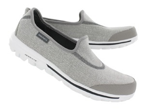 Skechers Womens GOwalk grey slip-on sneakers