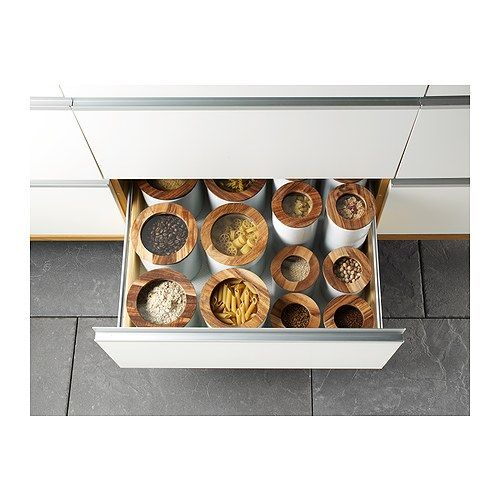 CELEBER Dose mit Deckel IKEA Durchsichtiger Deckel; der Inhalt ist gut zu erkennen - auch wenn der Behälter z.B. in einer Schublade steht.