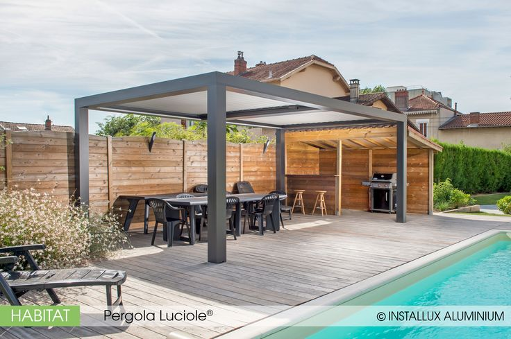 les 25 meilleures id es de la cat gorie pergola aluminium sur pinterest housses de patio en. Black Bedroom Furniture Sets. Home Design Ideas