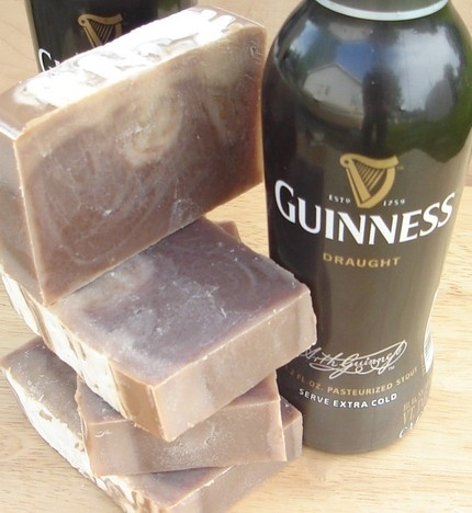 Homemade beer soap