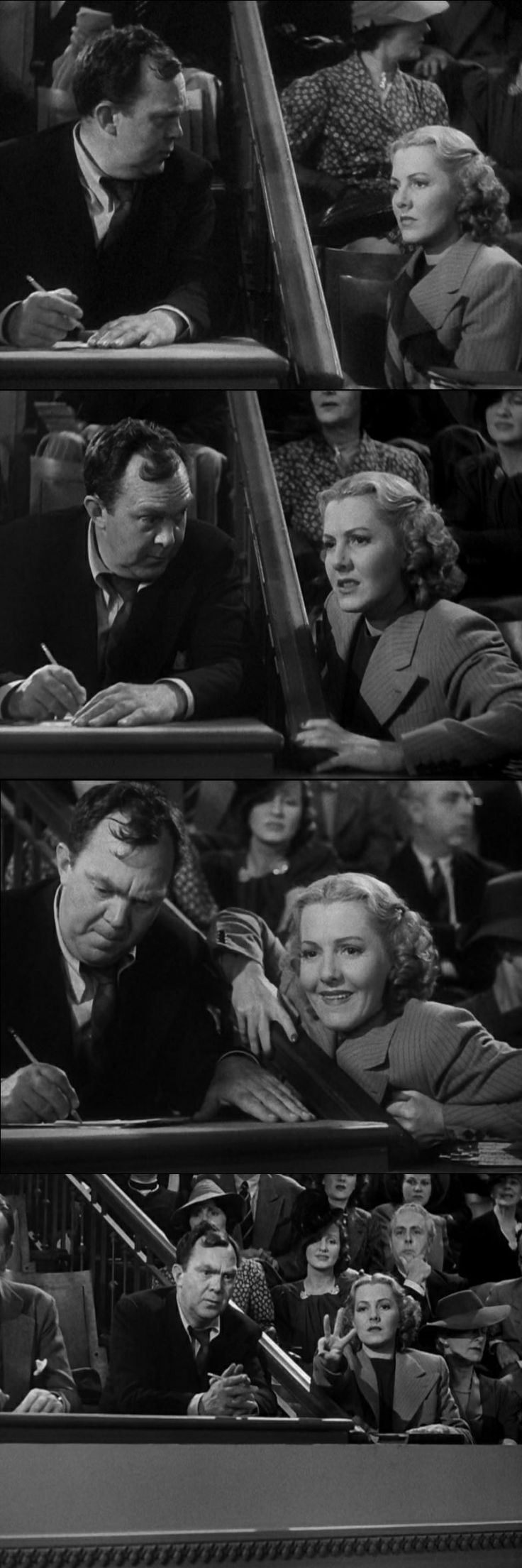 Clarissa Saunders, played by Jean Arthur in Mr. Smith Goes to Washington 1939, is the woman who manipulates everything behind the scenes.  Knowing everything about Willow Creek, she allows Smith to present the project, and when Mr. Smith needs to fight against the Taylor machine, he gets coached by Miss Saunders.