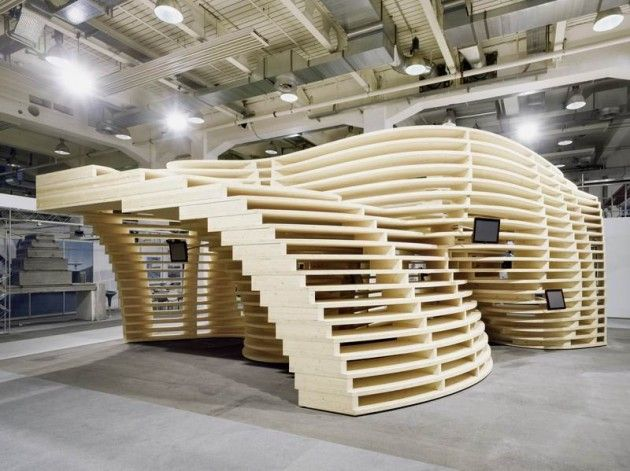 Zurich-based Frei + Saarinen Architects have designed the Lignum Pavilion
