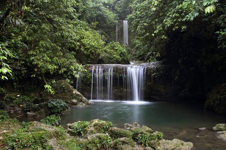 Luaha N'droi waterfall in Alasa sub-district, North Nias Regency. Nias Island, Indonesia. Photo by Bjorn Svensson. www.northniastourism.com
