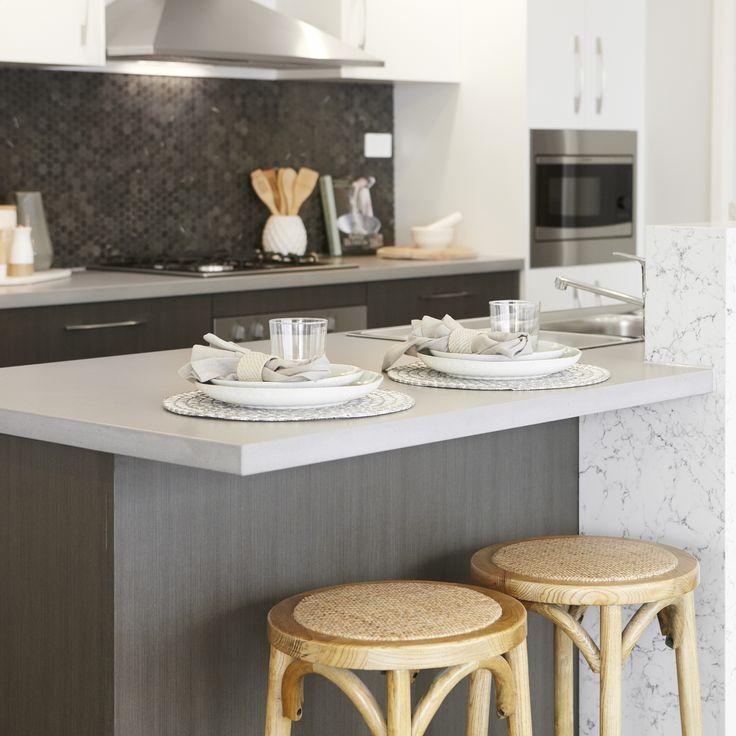 #breakfastbar #ikitchen #splashback #textures #kitchen #placesetting #stools #dreamkitchen
