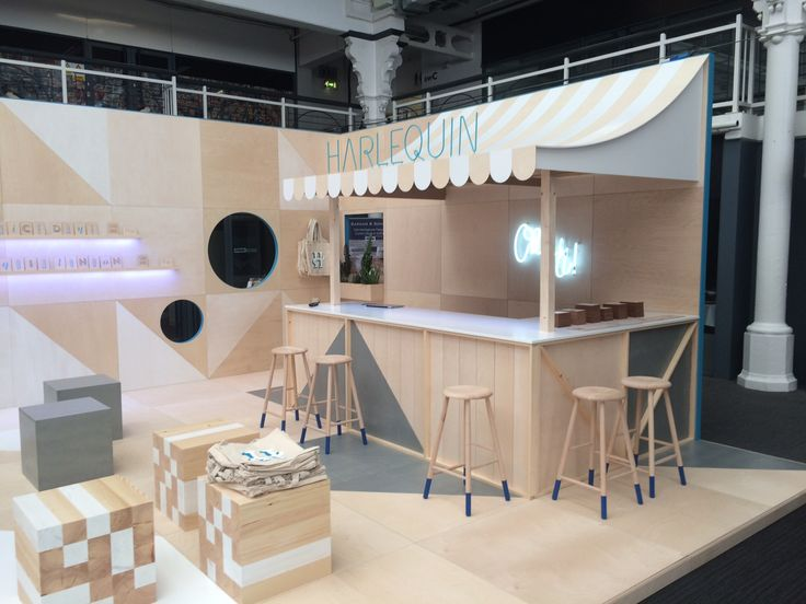 Wooden Exhibition Booth : The harlequin design stand at vm display show