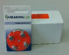 Zinc air hearing aid batteries +13 – Box of 10 (40 batteries) for $55.00