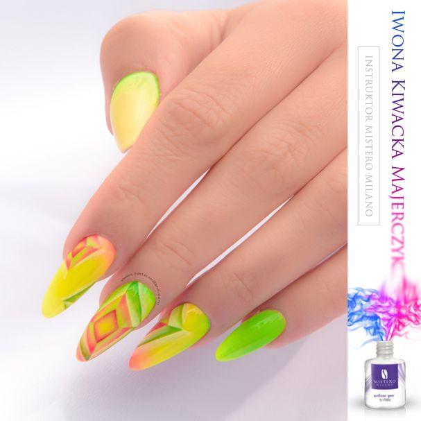 Kalejdoskopowe paznokcie!  Neonowy wzór! Mistero Milano