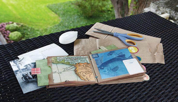 Vacation Memories Paper Bag AlbumBags Scrapbook, Scrapbook 101, Album Scrapbook, Paper Bag Scrapbook, Minis Scrapbook, Mini Scrapbooks, Scrapbook Diy, Diy Scrapbook, Paperbag Scrapbook