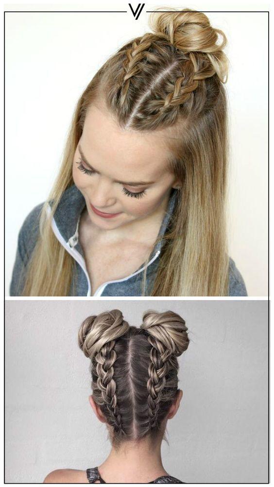 Combina 2 estilos para lograr un look diferente y divertido.  #Cabello #Estilo #Hairstyle: